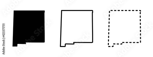 Fototapeta New Mexico state isolated on a white background, USA map obraz