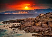 Spettacolare Alba Nell'isola Di San Pietro, Sardegna