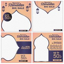 Ramadan Kareem 50% Sales Banner Media Social Template Square