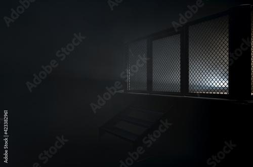 MMA Cage Door Spotlight Fototapet