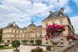 canvas print picture - Blick auf den Luxemburggarten mit Schloss  in Paris, Frankreich