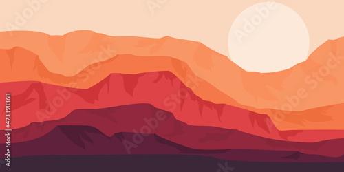 Fotografie, Obraz Tourism web banner design template for promotion design, travel tourism ads back