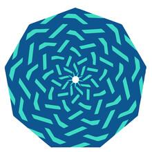 Isolated On White Background Mandala .abstract Background.