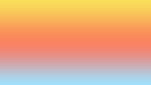 Abstract Combination Of Yellow , Orange, Pink And Blue Solid Color Linear Gradient Background On The Horizontal Frame