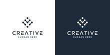 Minimalist Elegant Letter V With Dot Symbol Logo Design Inspiration