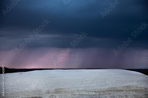 Fototapeta desert, in the background beautiful blue sky obraz