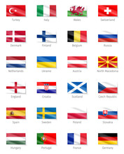 Participant Euro Cup Flags 2020. Flags 2020.