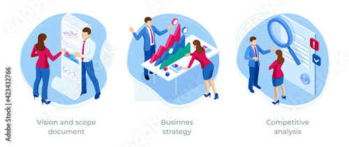 Isometric Competitive analysis, Businnes strategy, Vision and scope document. Expert team for Data Analysis, Business Statistic, Management, Consulting, Marketing.