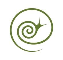 Grape Snail Logo. Isolated Snail On White Background