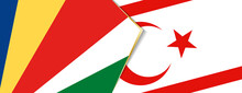 Seychelles And Northern Cyprus Flags, Two Vector Flags.
