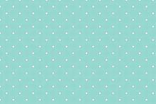 Soft Flower Polka Dot Patterns. Background Pattern Seamless Geometric Dot Abstract Green Aqua Color Vector. Summer Background Design.