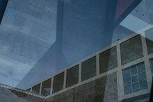 Multi Expositionof A Modern Building With Windows And Reflexion