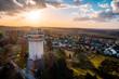 canvas print picture - Alter Wasserturm in Witten mit wunderbarem Panorama.