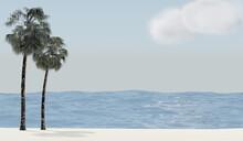 Illustration, 3d Render, Render, 3d, Touristic, Light, Blue Sky, Colorful, Sunset, Horizon, Natural, Cloud, Shore, Reflection, Bay, Vacations, Boat, Coastline, Sea Life, Nature, Vacation, Coast, Sceni