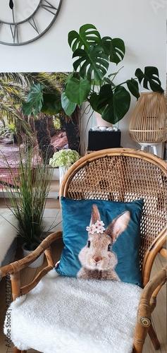 Fotel rattanowy wiklonowy kolonialny styl