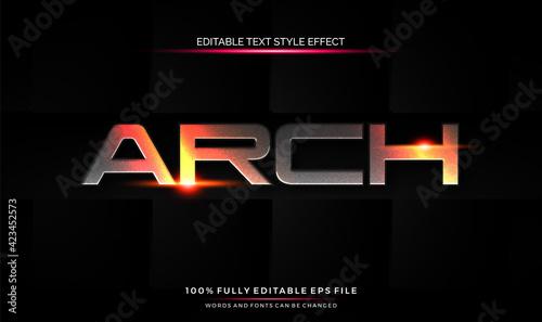 Fototapeta editable text style effect futuristic theme bright color. vector illustration template obraz