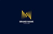 Letter N Line Speed Logo Design Vector Template