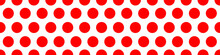 Seamless Red Dot Circle Pattern For Background. Vector EPS10