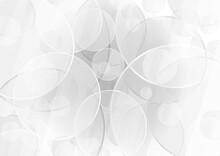 円が重なる透明感のある灰色の抽象背景 No.09