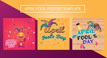Happy April Fools Day Poster With Surprise Box. Poster, Flyer, Ad, Promotion, Marketing. Text Poster.