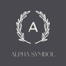 Vector Logo Of Olive Wreath, Alpha Symbol