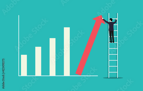 Ladder career path for business growth success process concept