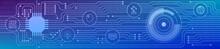 Banner Zum Thema: Backend Technology. Grafische Darstellung Mit Icons.
