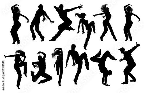Foto Street Dance Dancer Silhouettes