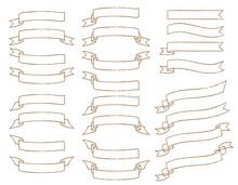 シンプルなラインのリボンのセット