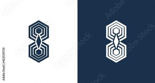 Tela abstract letter I, geometric spider logo