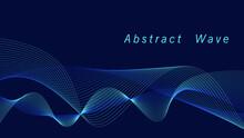 Abstrak Blue Wave On Silver Vector Background Giving A Fluttering Feeling.