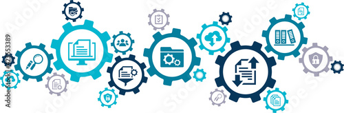 Canvas Document management vector illustration