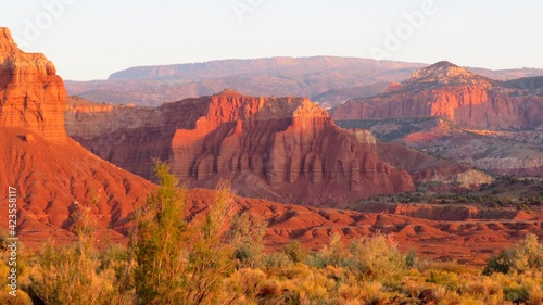 Red Rock of Capitol Reef National Park at Sunset Fototapet