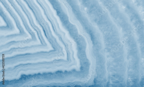 detailed structure from wide lined cyan agate