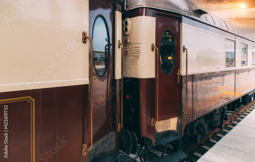 Photo Andalusia Old Luxury Train at Ronda Train station