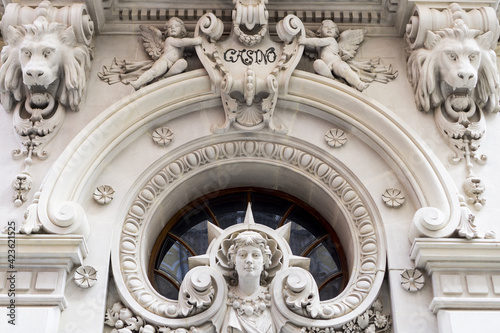 ornamentation of the entrance to the casino of murcia