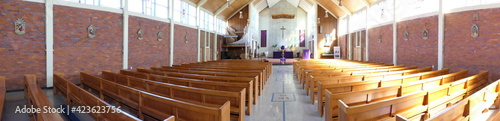 Fotografie, Obraz shot of religious Christian or catholic chapel and altar for worshippers