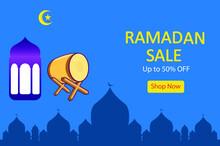 Ramadan Sale Vector Concept: Background Of Ramadan Sale Up To 50% Off\