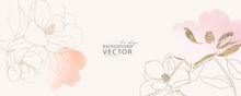 Minimal Background In Pink Flowers And Tropical Summer Leaf