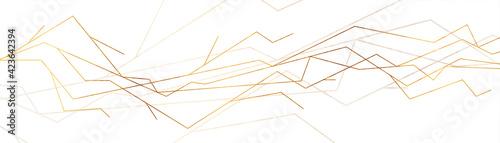 Fototapeta Luxury golden curved lines abstract geometric background. Vector banner design obraz