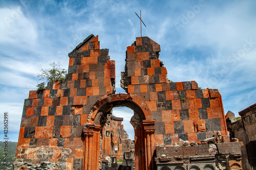 Fototapeta Surb Amenaprkich (Saint All Savior) Church ruins of the Havuts Tar monastery in