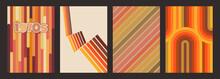 1970s Backgrounds, Pattern Set, Vintage Color Combinations
