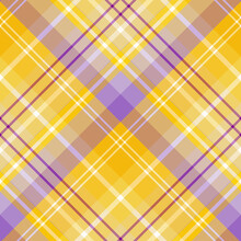 Seamless Pattern In Yellow, Lilac And Violet Colors For Plaid, Fabric, Textile, Clothes, Tablecloth And Other Things. Vector Image. 2