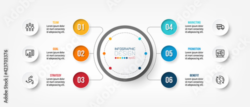 Foto Business or marketing diagram infographic template.