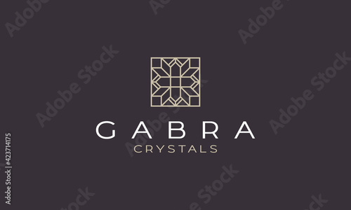 Fotografie, Obraz mandala emerald diamond logo vector icon illustration