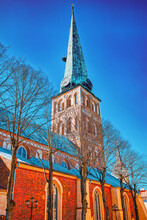 St. James Cathedral The Fourth Largest Church In Riga, The Main Catholic Church In Latvia.