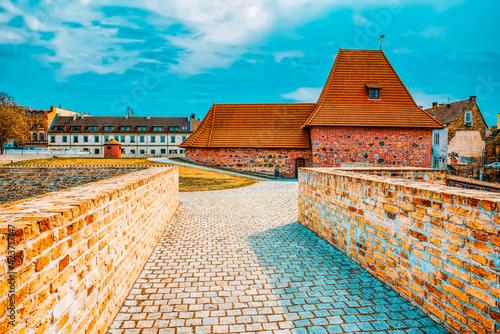 Obraz Bastion of the Vilnius City Wall. Lithuania. - fototapety do salonu