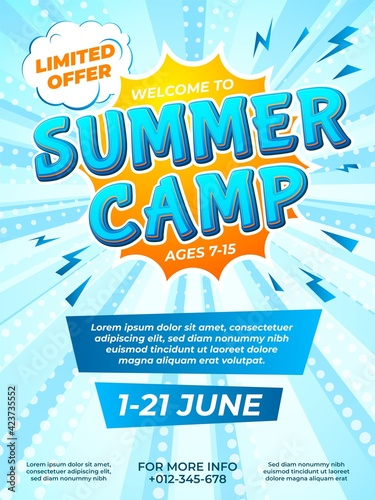 Stampa su Tela Summer camp poster