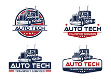 Automotive Service Logo Template. Truck Logo Concept