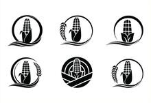 A Collection Of Corn Plantation Logo Icons